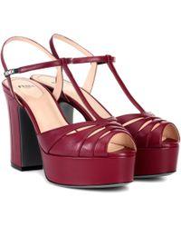 Fendi - Plateau Leather Sandals - Lyst