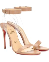 Christian Louboutin - Jonatina 100 Leather Sandals - Lyst