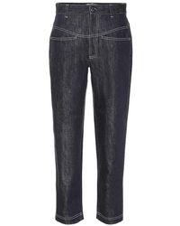 Fendi - Jeans a vita alta cropped - Lyst