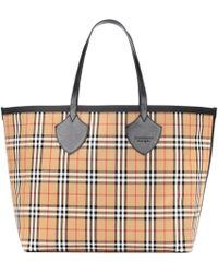 Burberry - Reversible Check Shopper - Lyst
