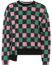 Marni - Cotton-blend Checked Sweater - Lyst