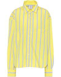 Vetements - Striped Cotton Shirt - Lyst