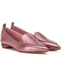 9627dac5242 Lyst - Nicholas Kirkwood Beya Leather and Suede Loafers in Purple