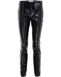 Valentino - Vinyl Slim-fit Pants - Lyst