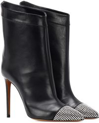 Alexandre Vauthier - Cha Cha Leather Ankle Boots - Lyst