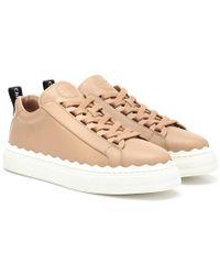 Chloé - Sneakers Lauren in pelle - Lyst
