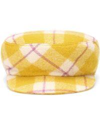 Isabel Marant - Naly Plaid Virgin Wool Hat - Lyst