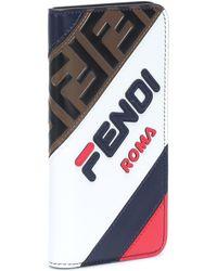 Fendi - Mania Leather Iphone X Case - Lyst