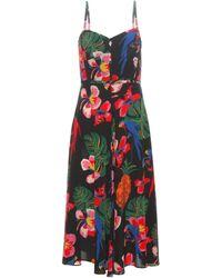 Valentino - Printed Silk Dress - Lyst