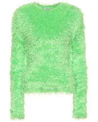 Balenciaga - Fitted Fluffy Sweater - Lyst