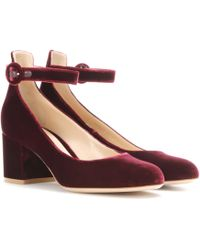 Gianvito Rossi | Greta Mid Velvet Court Shoes | Lyst