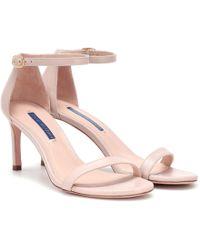 Stuart Weitzman - Nunakedstraight Leather Sandals - Lyst