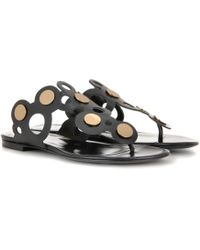Pierre Hardy - Penny Lace Leather Sandals - Lyst