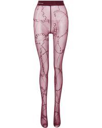 Balenciaga - Printed Tights - Lyst