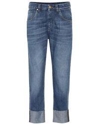 Brunello Cucinelli - Jeans regular a vita alta - Lyst