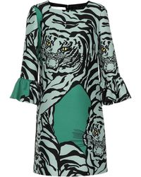 Valentino - Re-edition Wool And Silk Printed Dress - Lyst