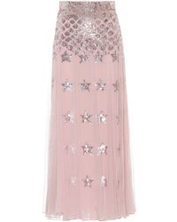 Temperley London - Starlet Sequined Tulle Maxi Skirt - Lyst