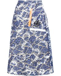Christopher Kane - Tape Embellished Lace Skirt - Lyst