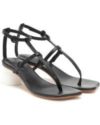 MM6 by Maison Martin Margiela - Strappy Block Heel Sandals - Lyst