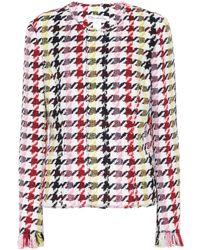 Oscar de la Renta - Houndstooth Wool-blend Jacket - Lyst
