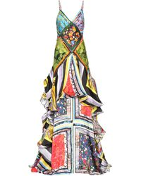 Rosie Assoulin - Cape Printed Dress - Lyst