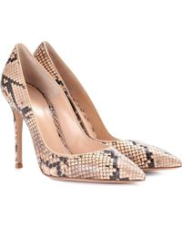 Gianvito Rossi - Exclusive To Mytheresa.com – Gianvito 105 Snakeskin Pumps - Lyst