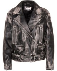 Acne Studios - Merlyn Leather Jacket - Lyst