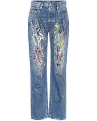 Calvin Klein Jeans - Painted Straight-leg Jeans - Lyst