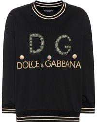 Dolce & Gabbana - Embellished Cotton Sweater - Lyst