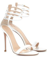 2a3f045ce16 Lyst - Gianvito Rossi Portofino Patent Leather Sandals in Natural