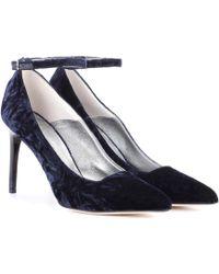 Oscar de la Renta - Crushed Velvet Court Shoes - Lyst