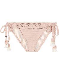 She Made Me - Farah Crochet Bikini Cotton Bottoms - Lyst