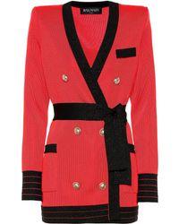 Balmain Robe façon blazer - Rouge