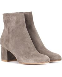 Gianvito Rossi - Margaux Suede Ankle Boots - Lyst