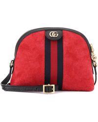 Gucci - Ophidia Suede Crossbody Bag - Lyst