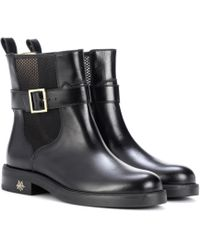 Charlotte Olympia | Triumph Leather Ankle Boots | Lyst
