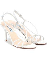 Prada - Leather Sandals - Lyst