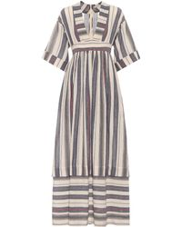 Three Graces London - Ferrers Striped Cotton Dress - Lyst