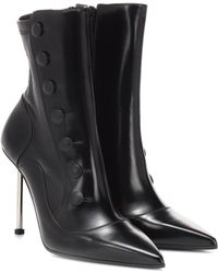 Alexander McQueen - Victorian Leather Ankle Boots - Lyst