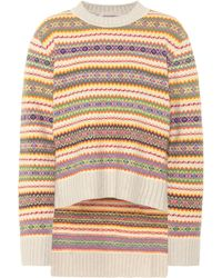 Stella McCartney - Striped Wool Jumper - Lyst