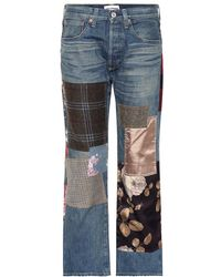 Junya Watanabe - Jeans con toppe - Lyst