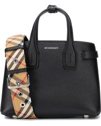 Burberry - The Baby Banner Leather Tote - Lyst