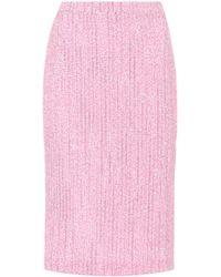 Alessandra Rich - Jupe crayon en tweed - Lyst
