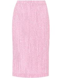 Alessandra Rich - Tweed Pencil Skirt - Lyst
