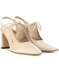 0f1918f6a62 The Row - Camil Leather Slingback Pumps - Lyst