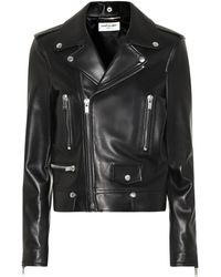 Saint Laurent - Leather Jacket - Lyst