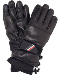 Moncler Grenoble Leather Gloves