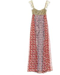 Valentino - Floral-printed Silk Gown - Lyst