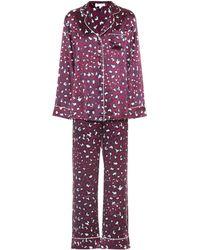 Olivia Von Halle - Lila Marilyn Silk-satin Pyjamas - Lyst