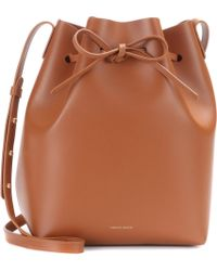 Mansur Gavriel - Bolso bolso tipo saco de cuero - Lyst